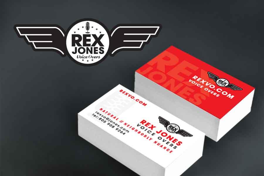 Rex jones logo business card design colourmoves